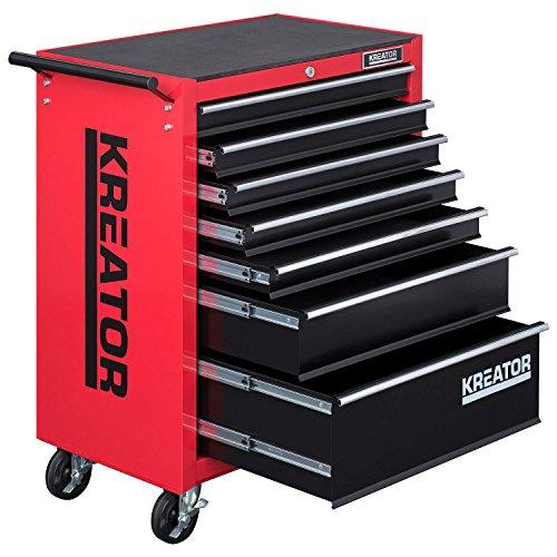 Mobiler Werkstattwagen Werkzeugwagen 348 tlg. gefüllt abschließbar 7 Schubladen - 3