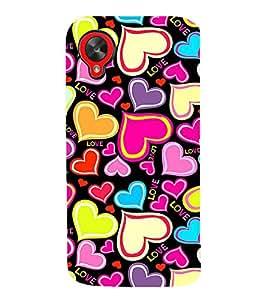 PrintVisa Designer Back Case Cover for LG Nexus 5 :: LG Google Nexus 5 :: Google Nexus 5 (black feeling heart purelove missyou)