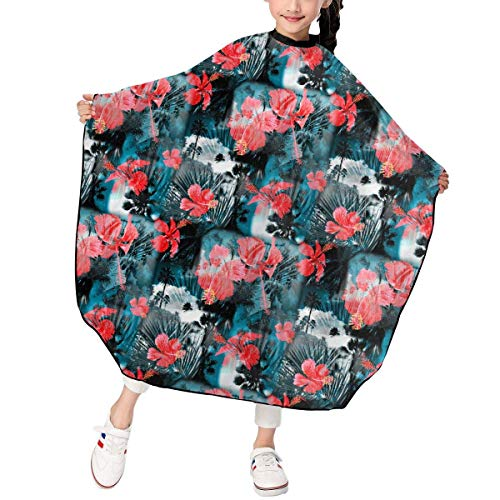 Art - Photo Collage Pattern Kid's Toddler Haircut Barber Cape Cover for Hairdresser Salon Shampoo