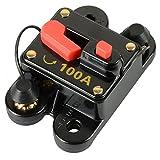 RKURCK Circuit Breaker, Fuse Holder Trolling Motor Auto Car Marine Boat Bike Stereo Audio Inline Fuse Inverter Relays DC 12-24V (100A)