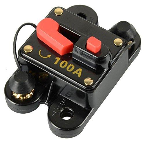 RKURCK Auto Disjoncteur 60A 80A 100A 150A 200A 250A Voiture Audio Porte-Fusible pour Trolling Moteur Marine ATV RV Audio Système D'Inverseur Protection 100 Amp