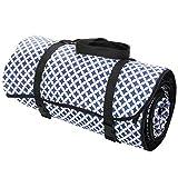 4L Textil Picknickdecke Decke Campingdecke Stranddecke Reisedecke Matte Baumwolle (Marokko dunkelblau)
