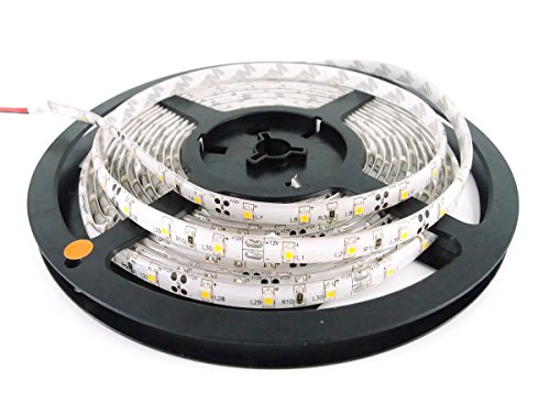 CMC LED-Lichtstreifen, wasserdicht, für Innen- und Außenbereich, SMD 2835, 300 LEDs, Flexibles Licht, für DC 12 V Akku, Solar-Adapter, Trafo