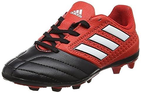 adidas Unisex-Kinder Ace 17.4 Fxg J Futsalschuhe, UK, Rot (Red/ftwr White/core Black), 38 2/3 EU (Fussballschuhe Jungen)