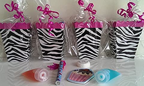 Fifteen x Girls Zebra Print Pre Filled Luxury Party Bags Filled With Excellent Quality Items - Birthday Party, Pamper, Teens, Sleepovers, Wedding