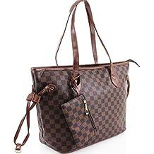 af503d208519f LeahWard Damen 2 IN 1 Schultertasche mit Clutch Bag  Designer-Einkaufstaschen 861
