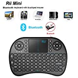 Mini Teclado Inalámbrico Bluetooth 2.4GHz de Rii (Diseño Español) con ratón touchpad (Rii mini i8 Bluetooth)