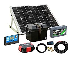 Solar Panel Electricity Generator Kit Charge Controller Battery Inverter (80/400w, PWM CONTROLLER)