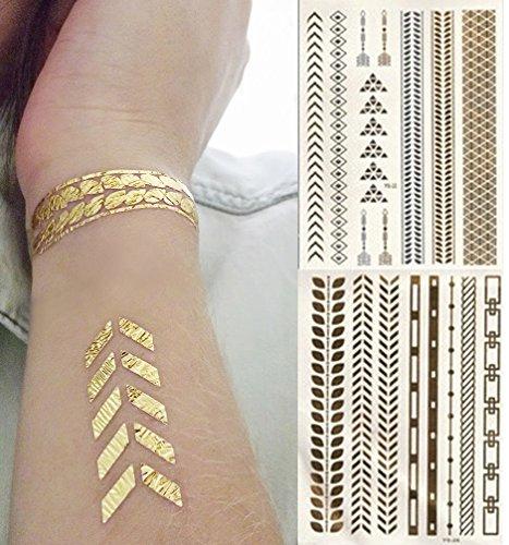 arte-corporal-pegatinas-tatuaje-removibles-temporales-flechas-doradas-pegatina-tatuaje-modavida-fash