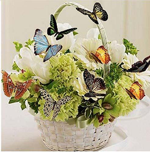 Preisvergleich Produktbild YUUWO Blume Schmetterling Wandaufkleber Diamant Malerei Kreuzstich Diamant Mosaik Diamant Stickerei Malerei Home Decor Rahmenlos 12x16 inch