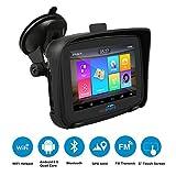 FODSPORTS GPS Navi Navigation für Auto, 5 Zoll Pkw-Navi Sonnenschutz Traffic Navigationsgerät Bluetooth Updates über Wi-Fi für Motorräder LKW mit POI Blitzerwarnung Sprachführung Fahrspurassistent