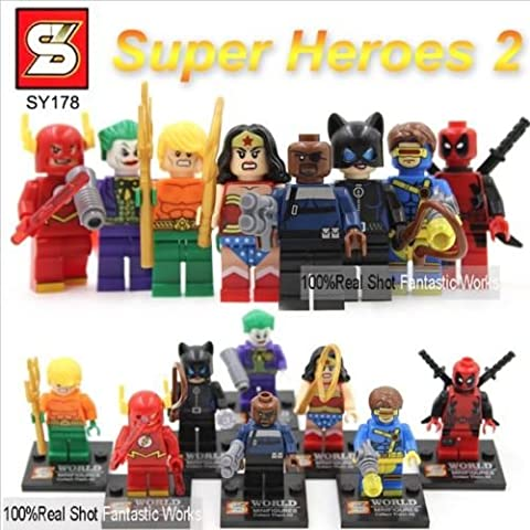 mini figures star wars marvel avengers man keyrings dc super hero fits with lego Marvel & DC collection - 8