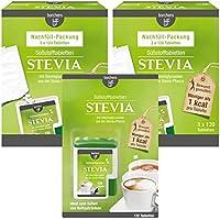 borchers Stevia Süßstofftabletten Vorteilspack 1 x Tablettenspender 120 Tbl, 2 x Nachfüllpack (jeweils 3 x 120 Tbl.)