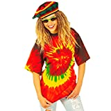 Rastafari rasta hippie déguisement t-shirt batik déguisement hippie t-shirt hippie rastaman coloré t-shirt batik carnaval XL 54/56