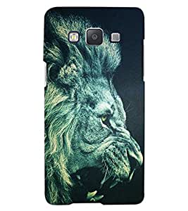 ColourCraft Roaring Lion Look Design Back Case Cover for SAMSUNG GALAXY A8