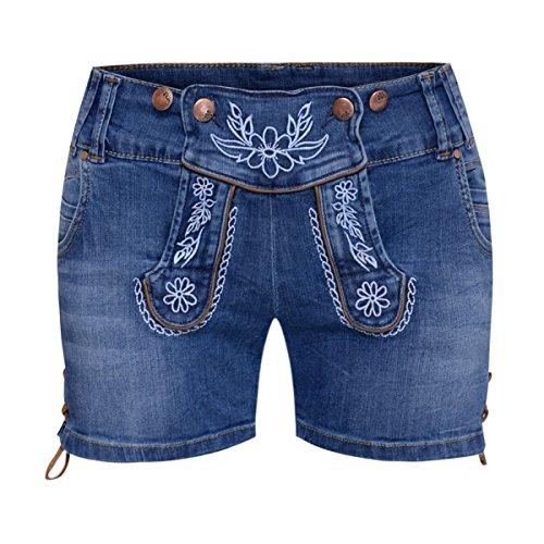 Jeans-Lederhose Berfin in Blau von Hangowear, Größe:36, Farbe:Blau