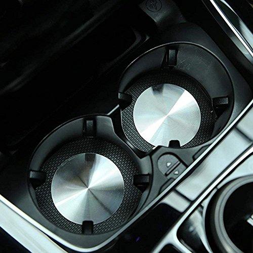 2x Edelstahl Cup Holder Cover für Benz A/B/C/E/CLA/GLA/GLC/GL-Klasse W204W205W212-X253Auto Universal Zubehör