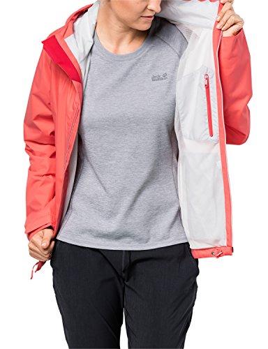Jack Wolfskin Arroyo Hardshelljacke Damen, Wetterschutz Funktionsjacke für Damen, wasserdichte, winddichte & atmungsaktive Regenjacke, Outdoorjacke mit angenehmer Passform, lachsfarben - 4