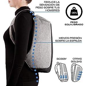 51hknjtujgL. SS300  - XD Design Bobby - Backpack Mochila Antirrobo, Negro
