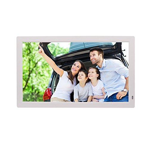 WMING 21,5 Zoll Digitaler Bilderrahmen 1080P des Digitalen Bilderrahmens Der Wandvitrine, Der HDMI-Anzeige, 1920 * 1080 HD-Auflösung, Mit Fernbedienung Anzeigt,White