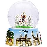 Tableau décoratif Taj Mahal Indian Snow Globe Dome papier Poids voitures de décoration intérieure Cadeau