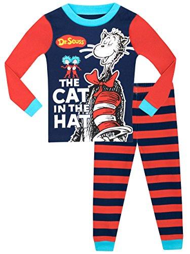 Dr. Seuss Jungen Der Kater Mit Hut Schlafanzug - Slim Fit - 128 (Seuss Dr. Kinder Für)
