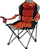 Quest Comfort Reclining Folding Chair Paprika Padded Head Rest & Soft Arms.