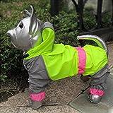 Running Pet Haustier Hunde Katzen Regenmantel Regenjacke Wasserdicht Glatte Kleidung Hundemantel Raincoat