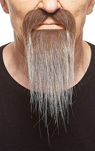 (Mustaches Brauner Ducktail mit graur fälschen, selbstklebend Bart)