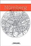 Posterlounge Acrylglasbild 120 x 180 cm: Nürnberg Karte Stadt Schwarz Weiss von Campus Graphics - Wandbild, Acryl Glasbild, Druck auf Acryl Glas Bild