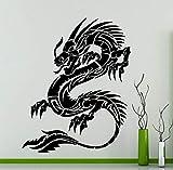 Applikation Chinesischen Stil Drachen Tribal Wandtattoo Tier Vinyl Aufkleber Kunst Dekoration...