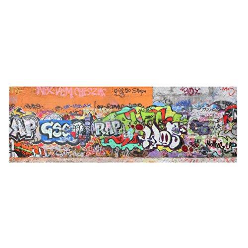 Bilderwelten Cuadro lienzo - Graffiti - Panorama Apaisado