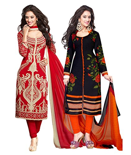 Ishin Combo of 2 French Crepe Multicolor Daily Wear Party Wear Wedding...