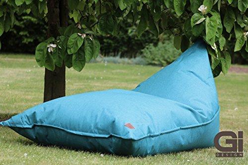 Outdoor und Indoor Sitzsack XXL, Relaxsessel ChillOut, abwaschbar, wasserfest, Markenware von GI Design (Königsblau)