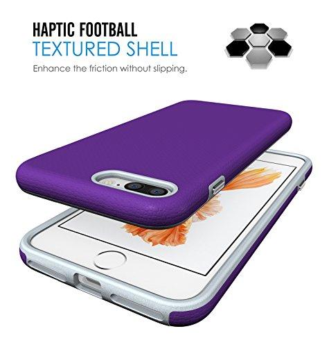 iPhone 7 Plus Hülle, Pasonomi [Rugged Armor] [Dual Layer] Bumper Case Cover Tasche Schutzhülle für Apple iPhone 7 Plus (Schwarz) Lila