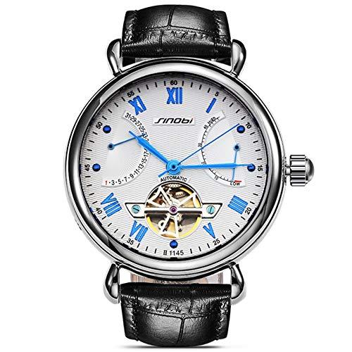 FAY Reloj mecánico automático para Hombre, Reloj de Cuero, Informal, de Negocios,...