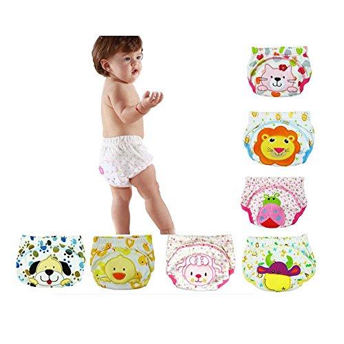 CuteOn 7 Packung Baby Kleinkind M?dchen Jungen Baumwolle Potty Training Pants Reusable 80cm