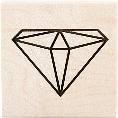Unbekannt Clearsnap Teresa Collins montiert Stempel 3Zoll x 3Zoll Diamant, Acryl, Mehrfarbig