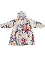 ColorDrip Children's Peony Print Waterproof Raincoat