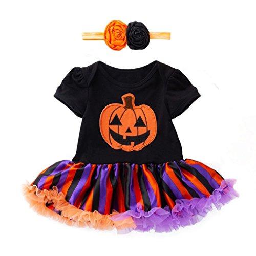 (Bright_99 Langarmshirt MädchenT-ShirtOberteileLangarmBluseTunika Halloween Kürbis Kurze Ärmel Kleidung)