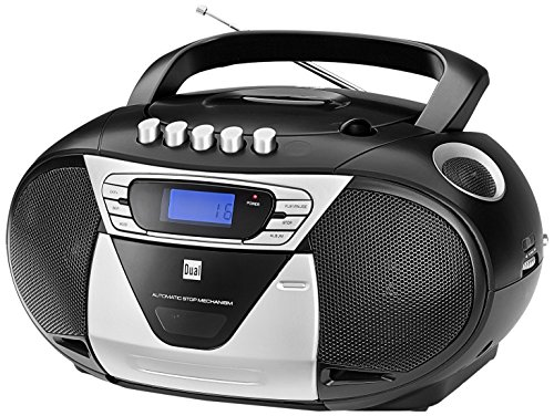 Dual P 68-1 portable Boombox (CD-Player, Kassettenrekorder, UKW/MW-Tuner, AUX-In) schwarz