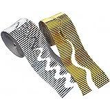 Playbox - Corrugado rollo de papel (Plata) - 15 x 50 mm - - (PBX2470621)