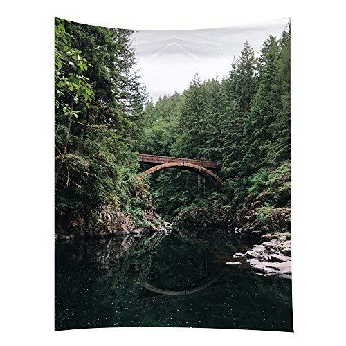 jtxqe Tapestry Bed Head Background Wall Hall Camera Ristorante Decorazione Panno Nuvola Foresta Sezione 35 150 * 100cm