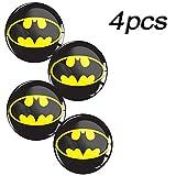 Skino 4 x Adesivi Resinati 3D Gel Stickers Auto Coprimozzi Logo Silicone Autoadesivo Stemma Adesivo Copricerchi Tappi Ruote Batman A 39 (70mm)