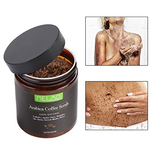 100% Natürliches Arabica Kaffee Körper Peeling Creme, Body-Scrub Körperpeeling Badesalz...