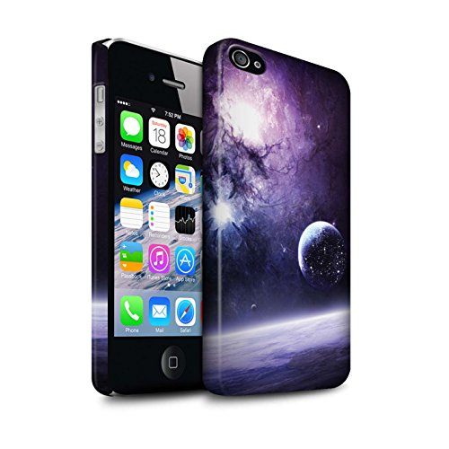Offiziell Chris Cold Hülle / Matte Snap-On Case für Apple iPhone 4/4S / Pack 12pcs Muster / Fremden Welt Kosmos Kollektion Planet/Mond