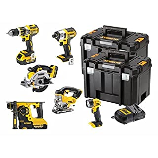 DeWalt DCK699M3T 18V 6 Piece Cordless Kit (3 x 4Ah Batteries) 2 x Tstak Kitboxes, 240 V, Multi, Large