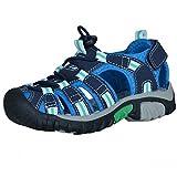McKinley Kinder Outdoor Sandalen Vapor II Sommer Freizeit Schuhe Quicklace Blau, Farbe:Blau, Größe:34