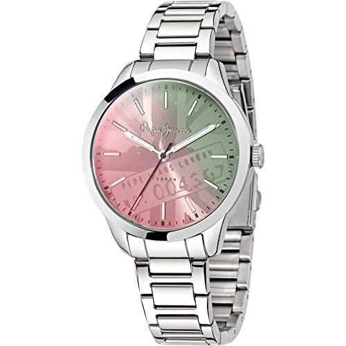 Pepe Jeans R2353121505 Meg Reloj de pulsera para mujer, analógico, mecanismo de cuarzo, acero inoxidable