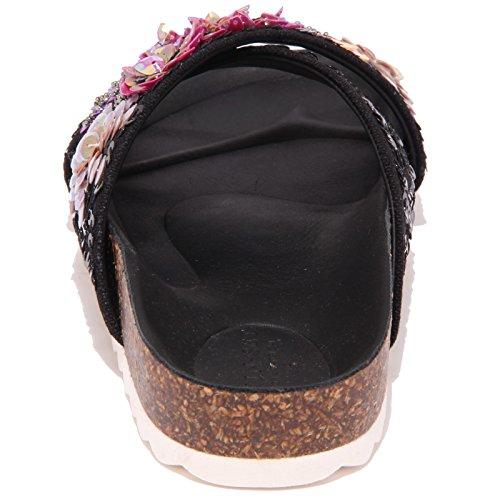 1016Q ciabatta TWIN-SET SIMONA BARBIERI sandalo donna sandal woman Nero